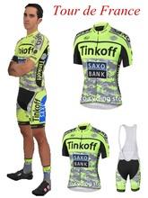 AliExpress |Ropa Ciclismo Ciclo Saxo Bank Tinkoff 2015 Ciclismo Jersey presenta llamativo maillot del Tour de Francia babero corto Ropa de bicicletas