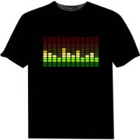 Sale Sound Activated LED T Shirt Light Up Flashing Equalizer EL LED T-Shirt Men for Rock Disco Party DJ(China (Mainland))