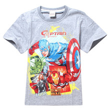 2015 New Styles Dinosaurs T-shirts Boy's 3D T-shirt Cotton,O-neck,Children's Printed T Shirt Summer Kids School Clothing! 2T-7Y