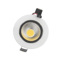 Buy White shell 7w led cob downlight dimmable led recessed spot light lamp 110-240v warm/cold white 120 angle + Led driver CE for $34.65 in AliExpress store