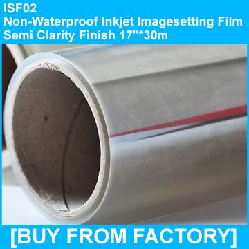 """Inkjet Film Semi-clarity Not Water Proof  17""""*30M"""