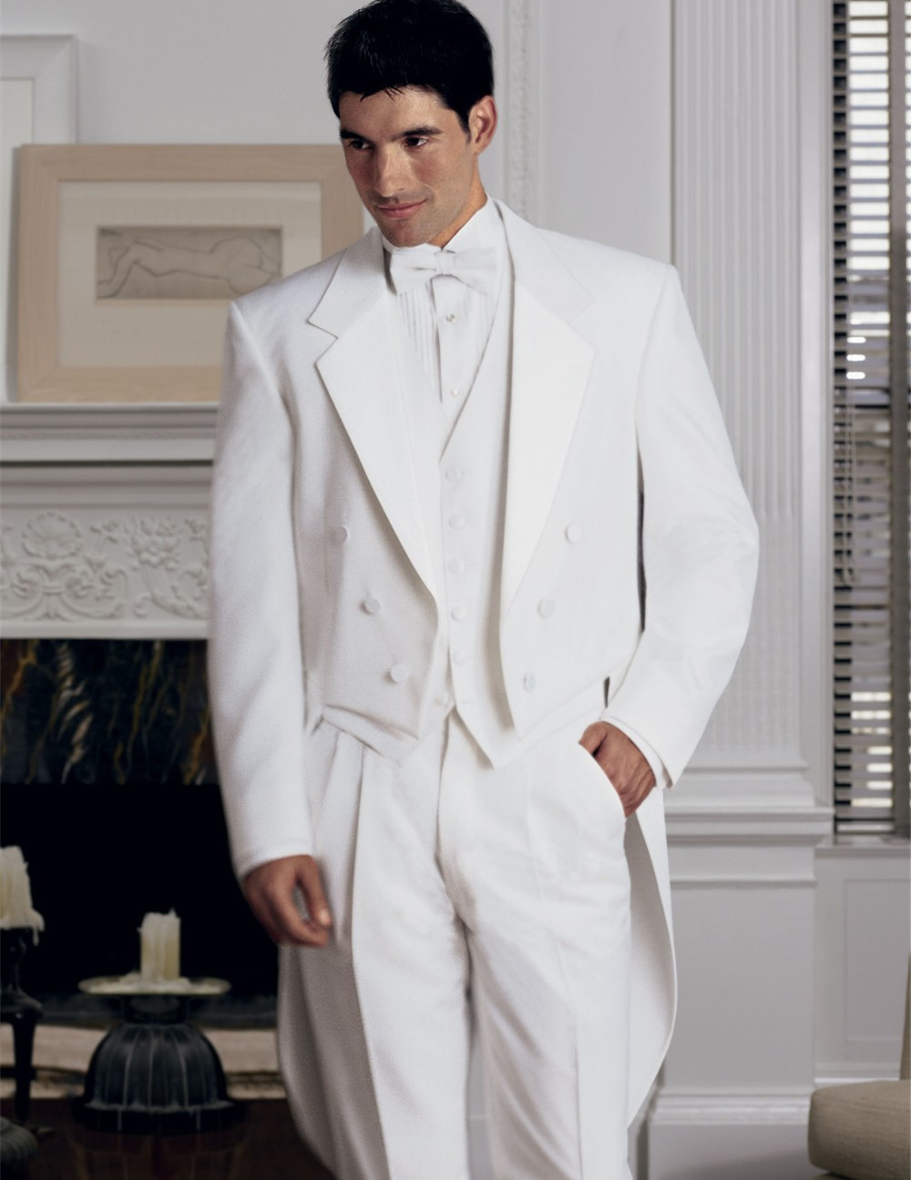 wedding suits groom tuxedo for men 2016 custom made suit white 3 piece suits free shipping