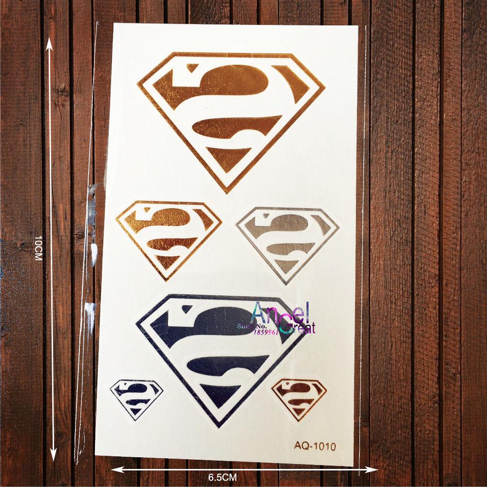 Temporaire logo tatouages achetez des lots petit prix - Signe de superman ...