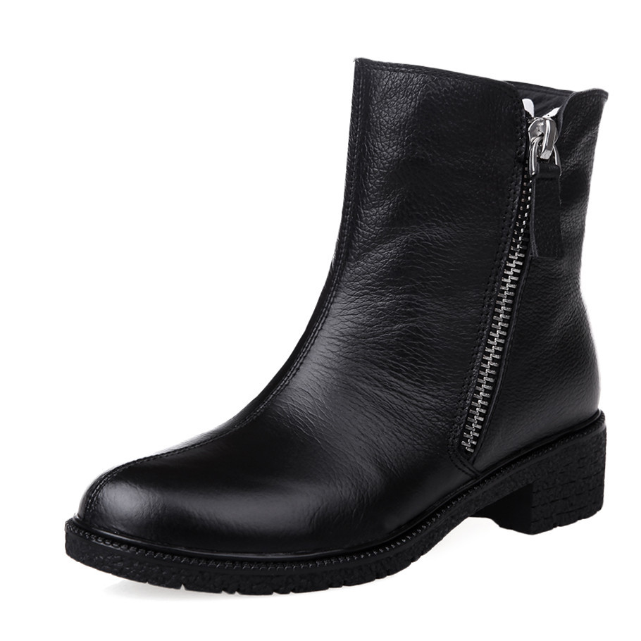 Round Toe Fashion Ankle Boots For Women Black Platform High Quality Motorcycle Boots Platform Shoes Martin Boots<br><br>Aliexpress