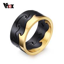 VNOX Эксклюзивный Съемный Кольца для Мужчин Ювелирные Изделия Черный Нержавеющей Стали Мужские Обручальные Кольца Золото/Черный/Серебристый Покрытием(China (Mainland))