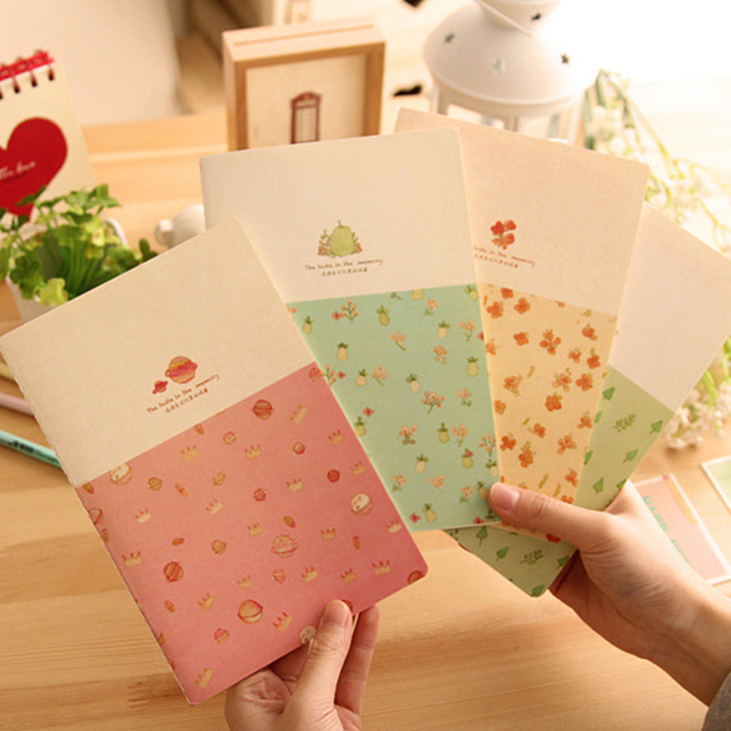 Hot Sale Quality Kawaii Korean Stationery Cute Taste In The Memory Notebook Diary Pocket Notepad Creative Gift For Kids DN1897(China (Mainland))