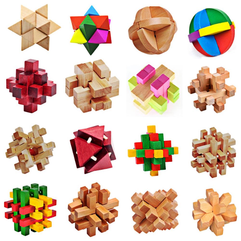 1Set Traditional Wooden Brain Teaser 3D Puzzle Intelligence Ming Luban Locks Old China Ancestral Locks Educational Toys K5BO(China (Mainland))