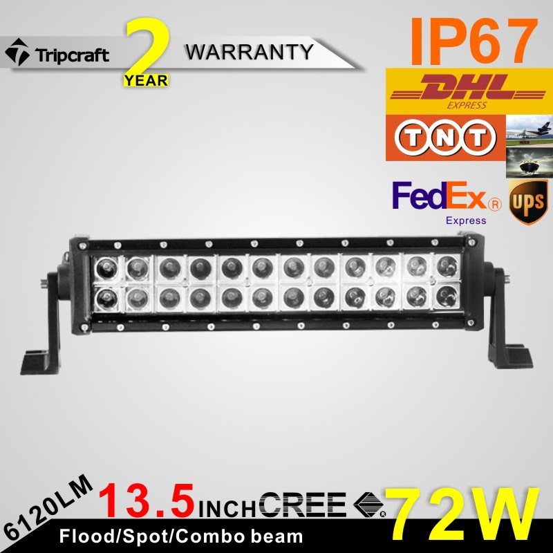 50% Discount! HOT SALES 13inch 72W 5040lm Epistar Auto LED Light Flood or Spot Beam driving light truck(China (Mainland))