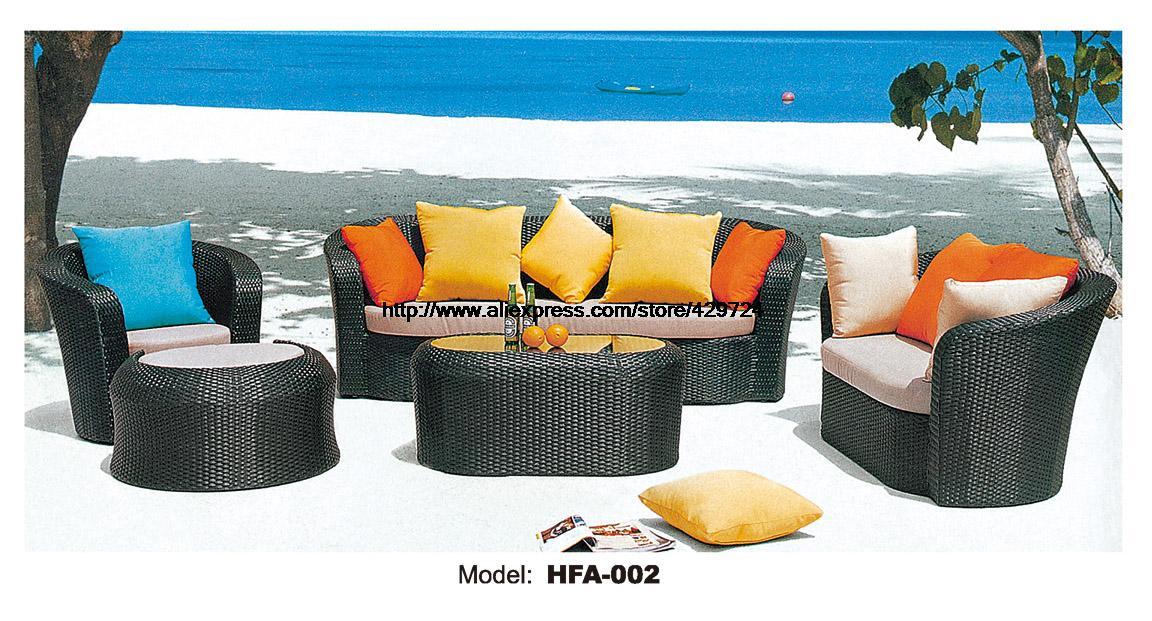 Outdoor Patio Furniture Sofa Table Ottoman Rattan Sofa Set Garden Wicker Furniture Factory Sofa Foshan Furniture Manufacturer<br><br>Aliexpress