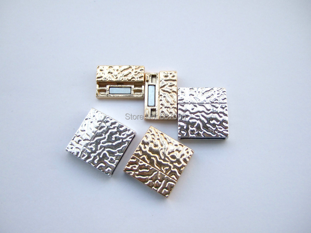 Sets flat magnet clasps silver gold tone embossed magnetic clasp for