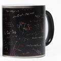 Free Shipping 1Piece Math Equation Heat Reactive Color Change Coffee Mug Magic Cup Office Geeky Heat