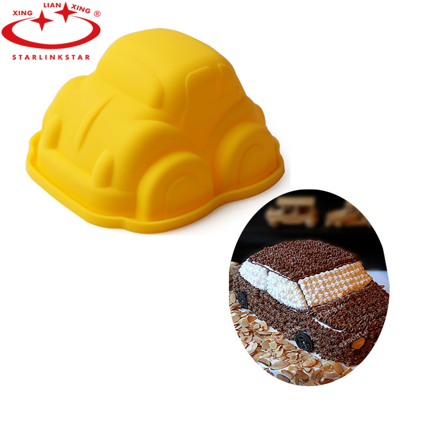 1Pcs 3D Car Cake Mold Silicone Fondant Cake Chocolate Soap Sugar Craft Mould Cutter DIY Baking Tools(China (Mainland))