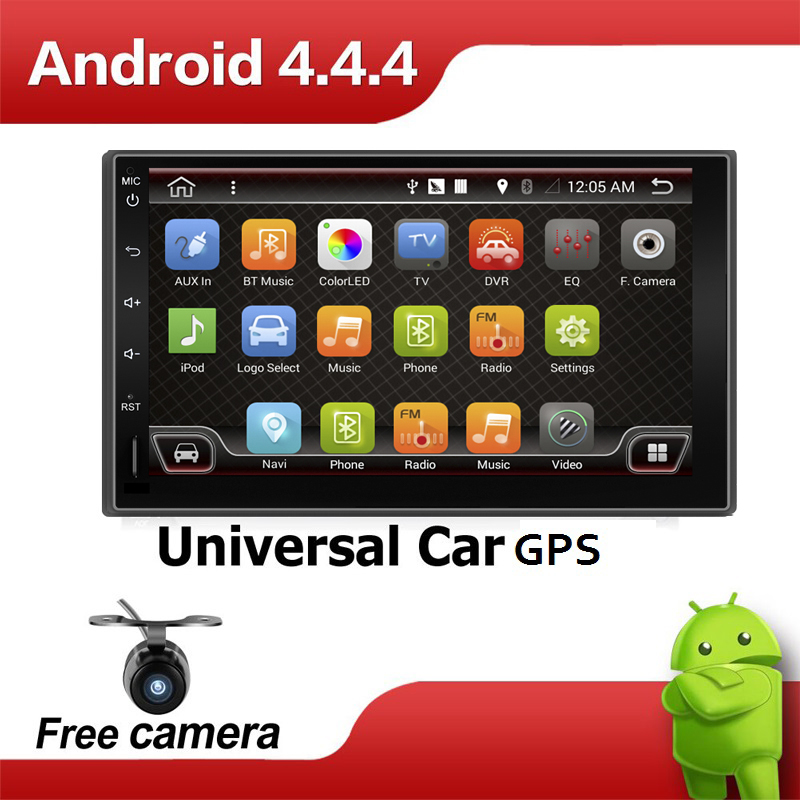 Quad Core 7 INCH 2 Din Android 4.4 Car Audio Non DVD Stereo Radio GPS TV 3G WiFi GPS Navigation Head Unit For Universal VW Car(China (Mainland))