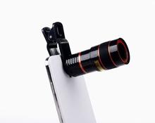 Universal 8X Optical Zoom Telescope Camera Mobile Phone Lens For sony z z1 z2 z3 z4 z5 compact mini glass + metal lenses