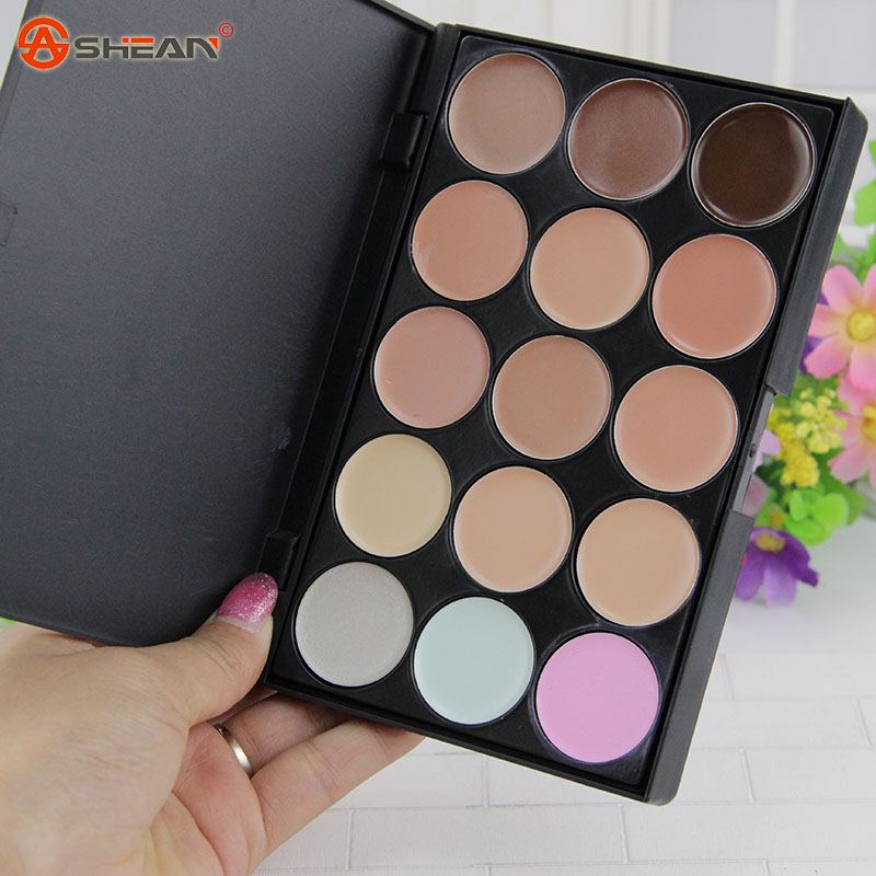 Hot 2 Color choose ! 15 colors Face Concealer Neutral Palette 15 color Makeup tools scar cream Face Camouflage Body Foundation(China (Mainland))