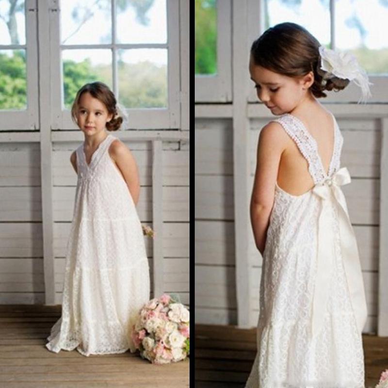 Popular Beach Wedding Flower Girl Dress Buy Cheap Beach
