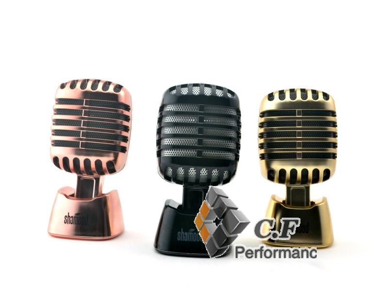 1PC Cinnamon/Rose Golden/Black Solid Oil Car Fragrance Air Freshener Vintage Microphone Decoration 001(China (Mainland))