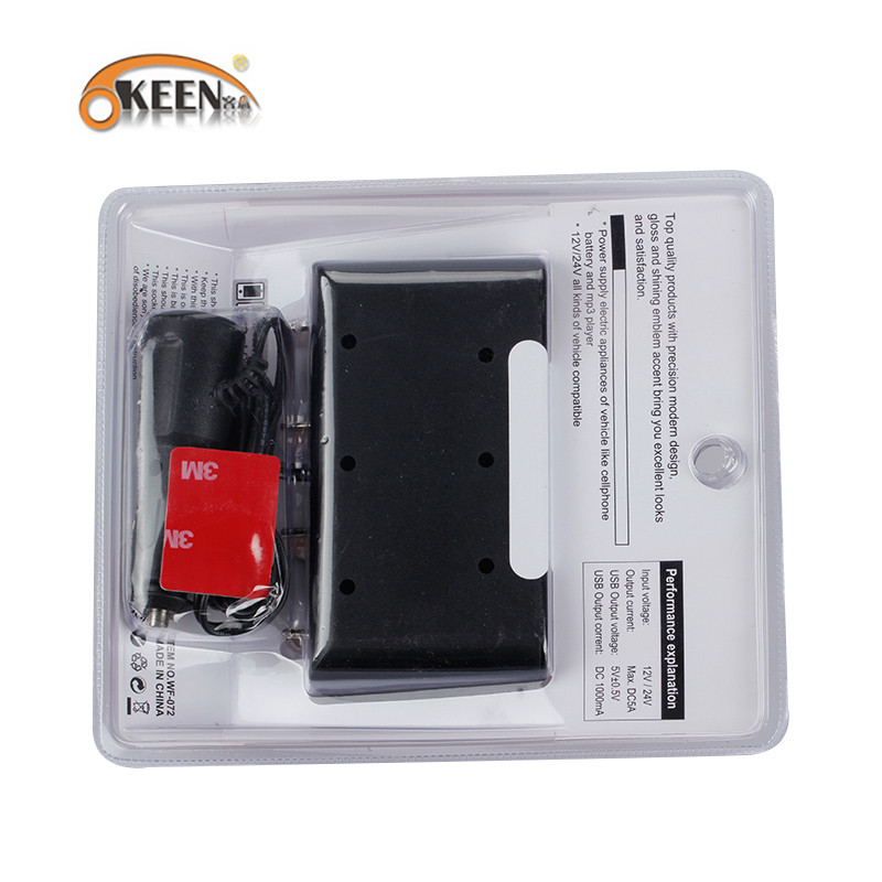 ถูก Okyสำหรับxiaomiรถชาร์จบุหรี่อิเล็กทรอนิกส์ที่มีusb 5โวลต์/1a auto s ocket s plitterอะแดปเตอร์ชาร์จไฟ