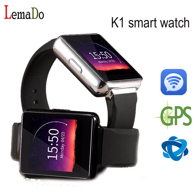 2016 Новый Lemado K1 Smart watch телефон с Android 5.1 OS MTK6580 512 МБ + 8 ГБ поддержка Wi-Fi GPS SIM карты Bluetooth smartwatch