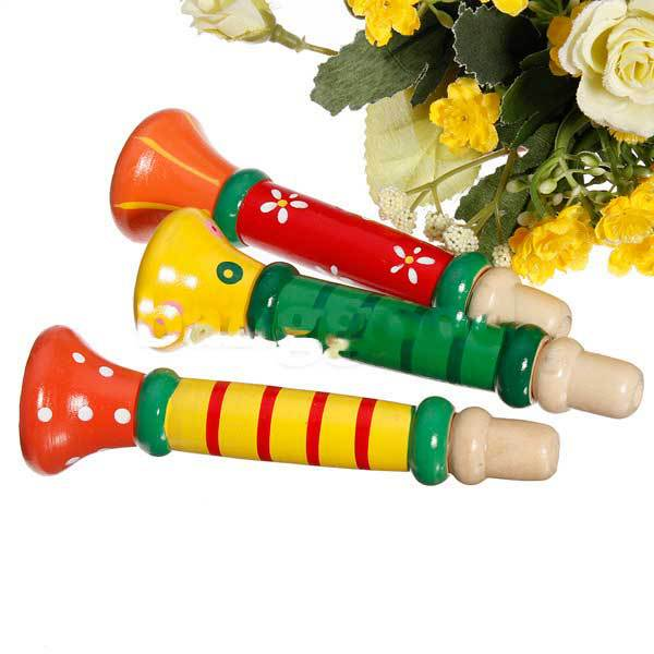 Dongdong Baby Musical Wooden Trumpet Child Instruments Toy(China (Mainland))