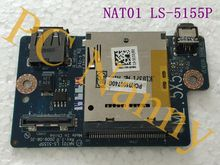 NAT01 LS-5155P Original for Dell Studio 17 1747 1749 Firewire SD Card Reader USB Board(China (Mainland))