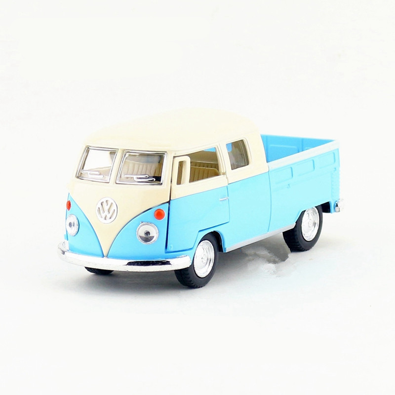 1:34 KINSMART Volkswagen Bus Truck Toy Die cast & ABS 1963 Bus Car Model Doors Openable Cars Models For Boys Kids Toys Juguets(China (Mainland))