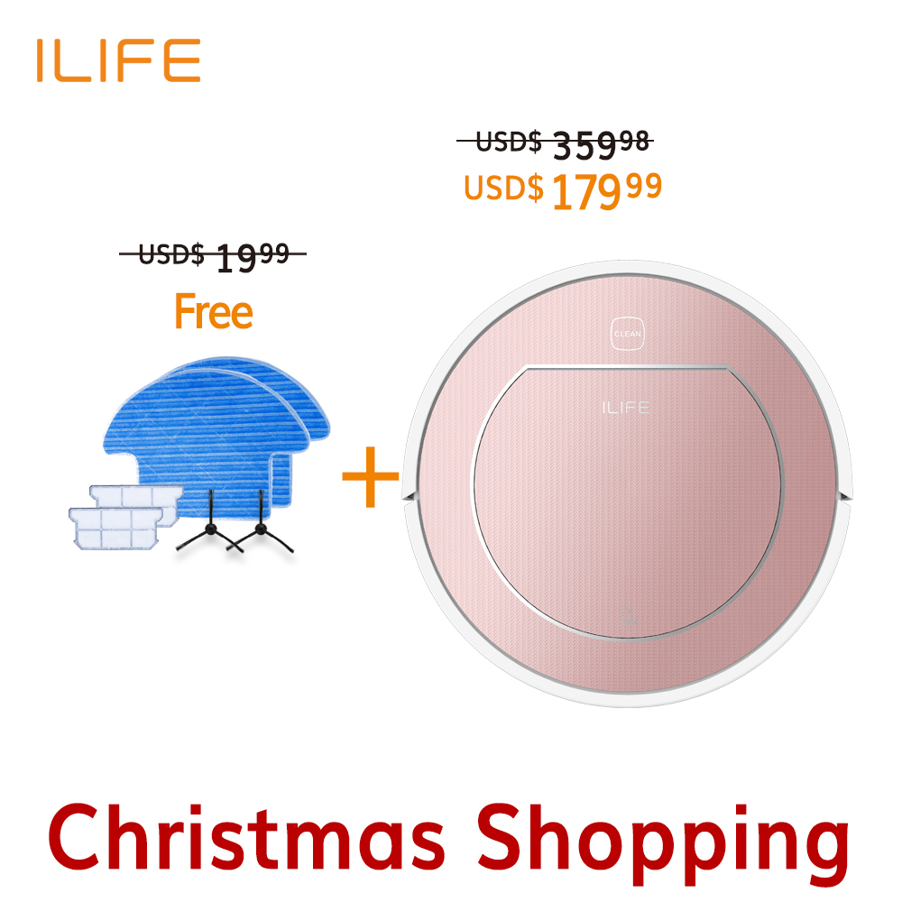 Hot Sale Original 2 in 1 ILIFE V7S Smart Robot Vacuum Cleaner Cleaning Appliances 500ML Large Water Tank Wet Clean Self-Charge(China (Mainland))