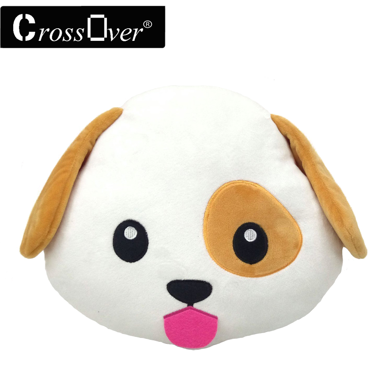Christmas decoration New Dog Puppy cojines Emoji Pillow Emoticon Cushion coussin almofada Plush Soft Toy Doll Smiley face pillow(China (Mainland))