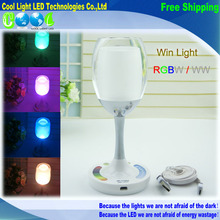 2.4G Mi.light Wireless Group LED Lamp USB cycle charge RGBW Magic Crystal Glass Win Light for Party(China (Mainland))