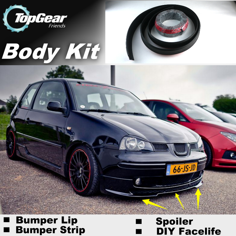 bumper lip deflector lips for seat arosa 1997 2004 front. Black Bedroom Furniture Sets. Home Design Ideas