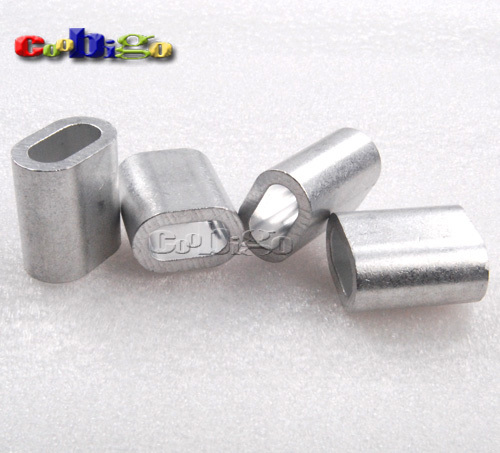 Pcs quot mm aluminum cable crimp sleeve ferrule