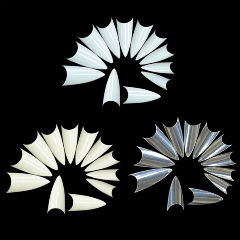 500Pcs False Nail Tips Stiletto Acrylic Fake Nails Artificial Nails Art With Design DIY Decoration Faux Ongles Palette Polish(China (Mainland))