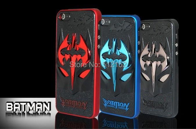 arrival!Super Cool Design 3D batman Back Cover Case iphone 4 4s 5 5s slim hard logo brand cases - Shenzhen Stone Technology Co.,Ltd store