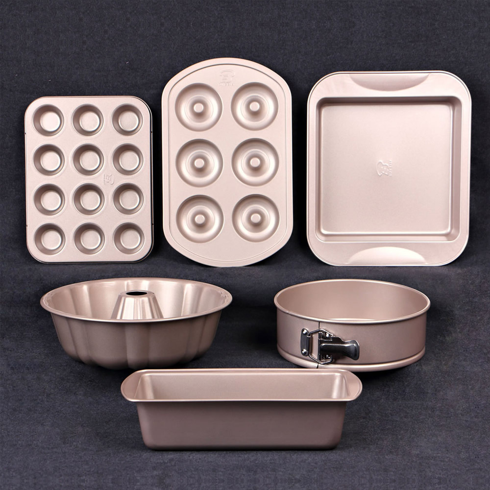 New Healthy Carbon Steel 6 PCS Bakeware Set Of Baking Dish Pans,Cake Mold Pan,Toast Mould,Biscuits Maker Practical Baking Tools(China (Mainland))