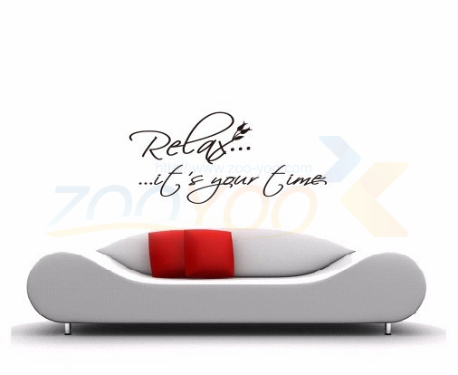 Relax..ItS Your Time home decor creative quote wall decal ZooYoo8079 decorative adesivo de parede removable vinyl wall sticker(China (Mainland))