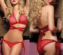 Red Sexy fashion Women Lingerie Set Underwear Sleepwear Lace G string