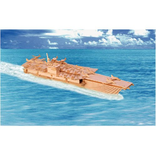 USA Delivery New Cool Aircraft Carrier 3Dimensional Wooden Toy Model Kit for Kids/Children(China (Mainland))