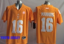 100% Stitiched,Tennessee Volunteers,Peyton Manning for youth,kids(China (Mainland))