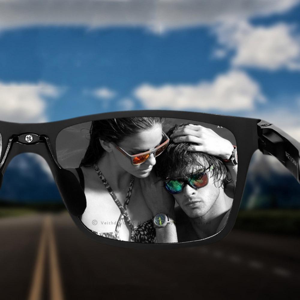 Veithdia Polarized Happy Freedom Sunglasses Men Sport Sunglasses Wayfarer Goggle Eyewear Accessories Oculos De Sol Feminino