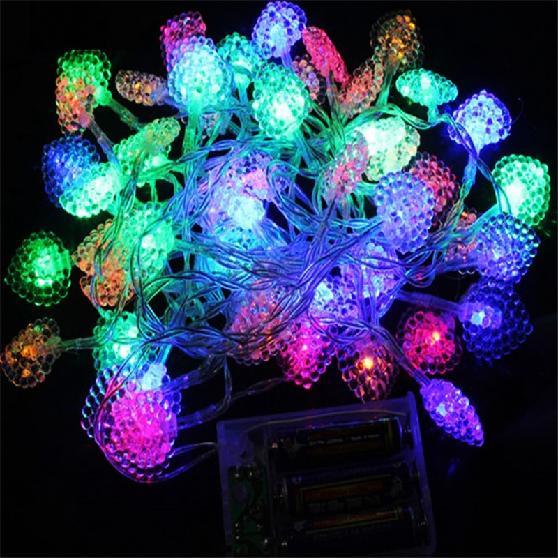Novelty String Lights Christmas : 2m 20 Led String Lights Battery Powered Novelty Heart Decoration Lights Christmas Party Wedding ...