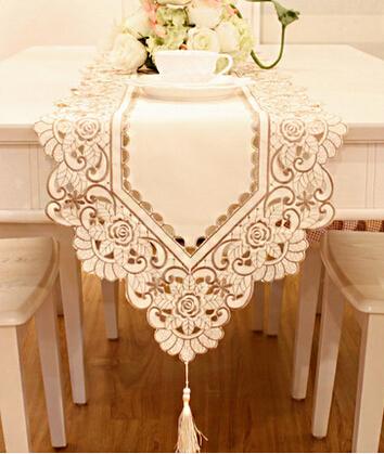 Luxury Wedding Gift List : SHIPPING// 40*190cm Luxury Embroidered White Table Runner Wedding Gift ...