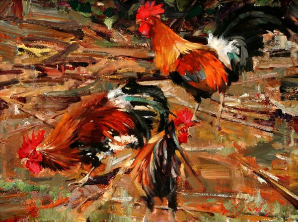 free shipping impression animal <font><b>rooster</b></font> oil painting canvas printings printed on canvas <font><b>home</b></font> wall art <font><b>decoration</b></font> picture