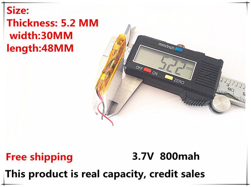 (10pieces/lot) 523048 800mah lithium-ion polymer battery quality goods quality of CE FCC ROHS certification authority(China (Mainland))