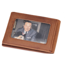 2015 Direct Selling Wallets High Quality Crazy Horse Leather Wallet Famous Brand Design Moneyclip Holder For