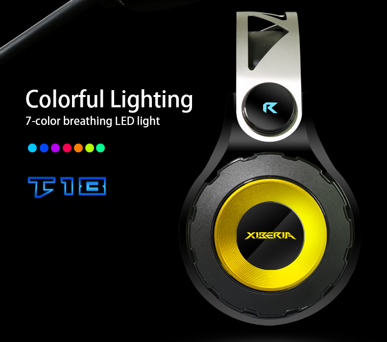 Original XIBERIA T18/S21 7.1 Surround Sound Gaming Headphone Deep Bass With Microphone Headset Headphones For Computer PC Garmer