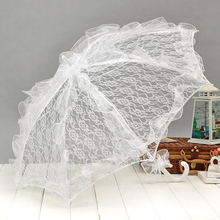Piccolo pizzo manuale di apertura wedding ombrello nuziale parasole accessori per la cerimonia nuziale nuziale doccia ombrello (più colori) 2955  (China (Mainland))