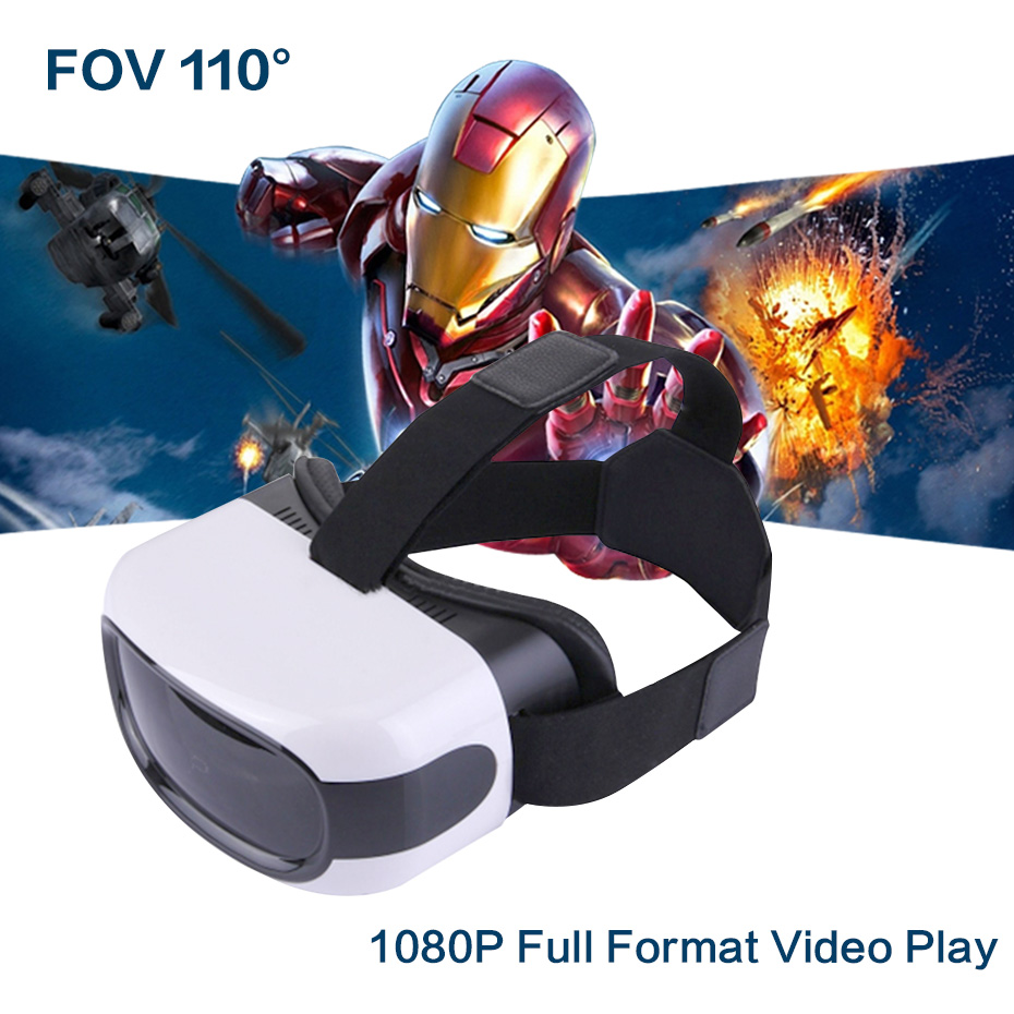 VR Box 3D Virtual Reality Goggles 3D Glasses 1080 P All In One VR Video Play Android 5.1 Full Format 3 D Movie Game Glasses(China (Mainland))