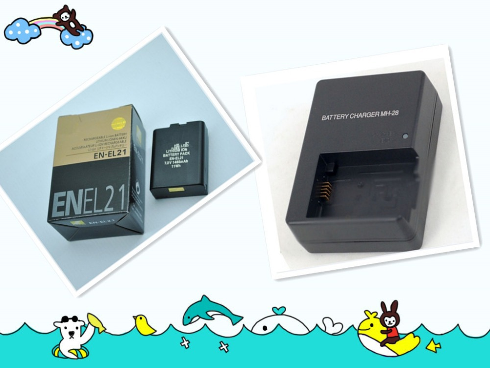 Free shipping Replacement Camera Battery EN-EL21 ENEL21 EL21+battery charger for Nikon V2(China (Mainland))