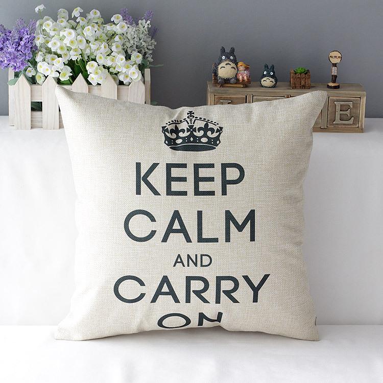 """18 """" britânico Retro Plain Cotton Linen capa de almofada Ikea sofá decorativo descanso de lance cadeira casa assento de carro fronha almofadas"""