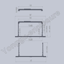 147x41x155 mm 5 78 x1 6 x6 1 wxhxl aluminum enclosure for circuit board pcb usb